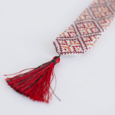Ethically, hand-made, beautiful bookmarks made with love by Syrian women in refugee camps.